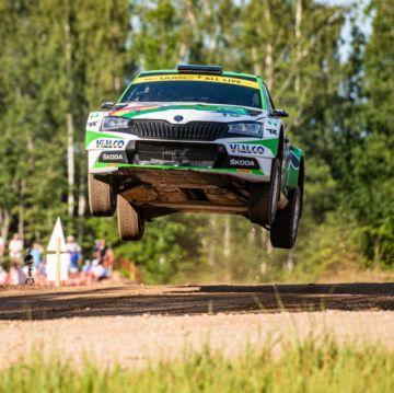 Marquito Bulacia es tercero a una etapa de concluir el Rally Estonia