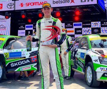 Marquito Bulacia firma en Estonia su tercer podio en el Mundial de Rally