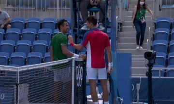 Dellien cae ante Djokovic, pero deja una inolvidable imagen en Tokio 2020