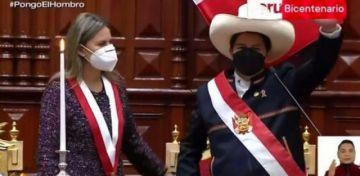 Pedro Castillo jura como el nuevo presidente de Perú