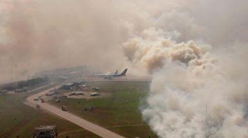 Santa Cruz: Incendio de pastizales ingresa a Viru Viru