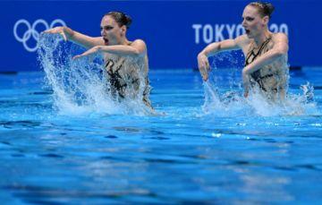 Rusia gana el oro en dúo de natación sincronizada, México y España lejos del podio