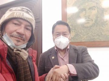 Gonzalo Melgar logra reunirse con el presidente Luis Arce por la devolución de aportes a las AFP