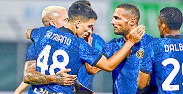 El Inter defiende su título con una lluvia de goles