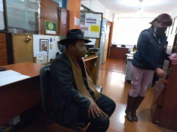 """La Paz: Santos Quispe se presentó a declarar en la Fiscalía y dice que se lo acusa """"sin motivo"""""""