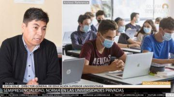 """Ministerio recomienda a universidades """"mayor incidencia en la presencialidad"""""""