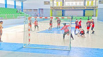 Handball en acción