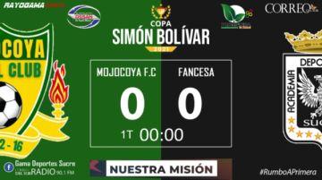 En Vivo: Mojocoya FC 0 - Fancesa 1