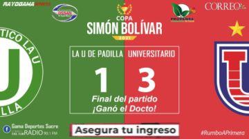En vivo: La U de Padilla 1 - Universitario 3