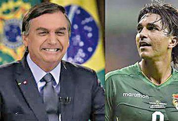 Jair Bolsonaro saluda a Martins y anima al Cruzeiro