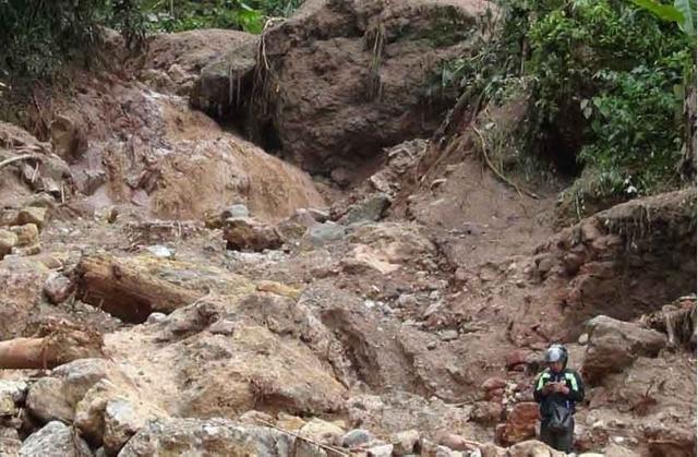 Alud deja un muerto, un desaparecido y seis heridos en la selva peruana
