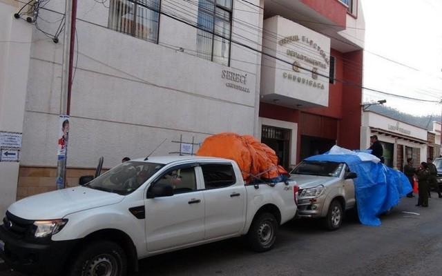 Material electoral ya se destina a provincias de Chuquisaca