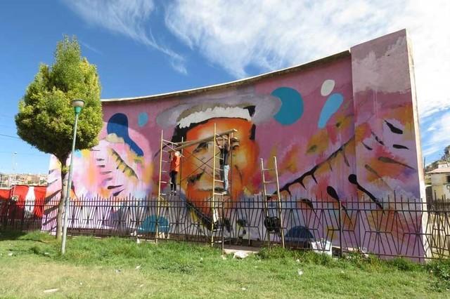 Mural inspirado en la libertad, regalo de francés a Sucre