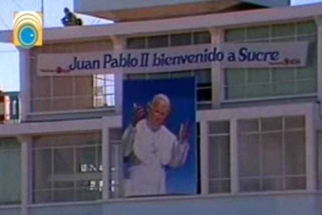 Juan Pablo II llamó a una nueva evangelización en Sucre y se emocionó con los niños de Tarija