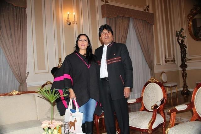 Downs visita a Morales en Palacio y revela que está maravillada con La Paz