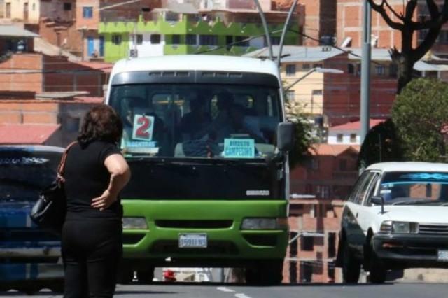 Sucre: Tarifa con incremento en el transporte público queda sin efecto