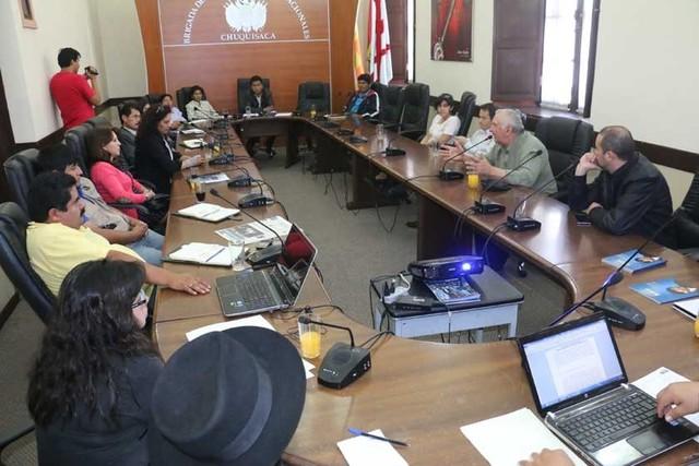 Los empresarios de Chuquisaca llevan reclamos a legisladores