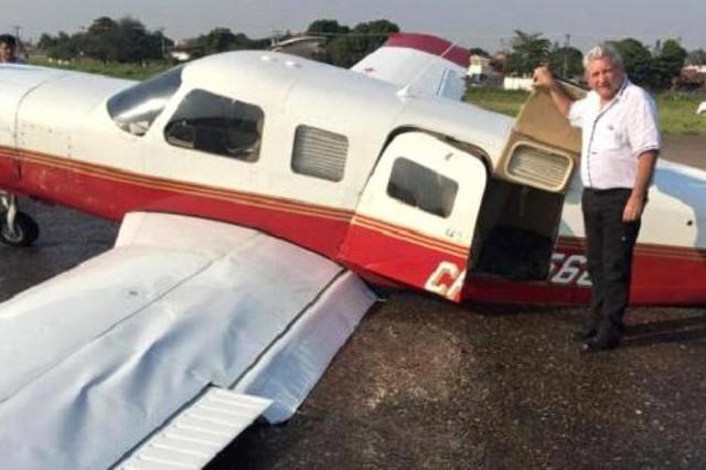 Rubén Costas y tres autoridades cruceñas sufrieron percance aéreo, pero resultaron ilesos