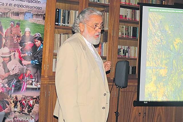 Salinas analiza la ocupación inca en Chuquisaca