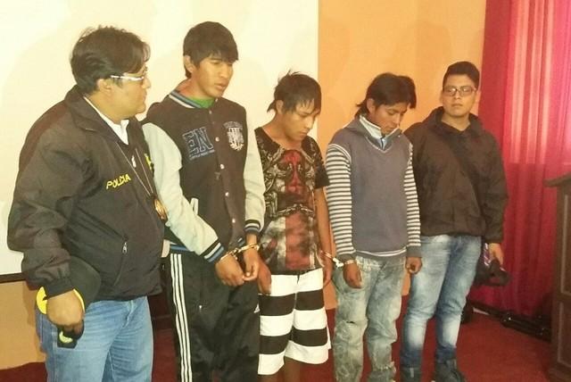 Sucre: Antisociales con antecedentes penales de robo de celulares son presentados
