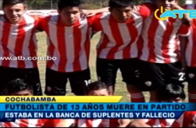 Futbolista de 13 años se desvanece y muere en una cancha de Cochabamba