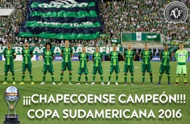 Conmebol otorga oficialmente el título de Campeón de la Sudamericana 2016 a Chapecoense
