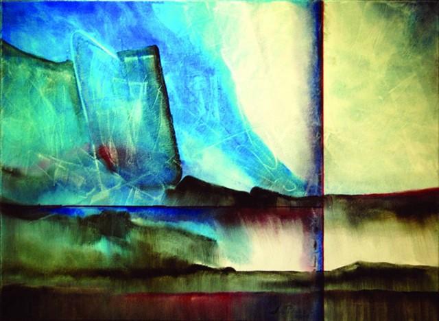 Alfredo La Placa, el pincel  del arte boliviano abstracto