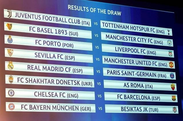 Real-PSG y Chelsea-Barcelona, los cruces de octavos de final de la Champions