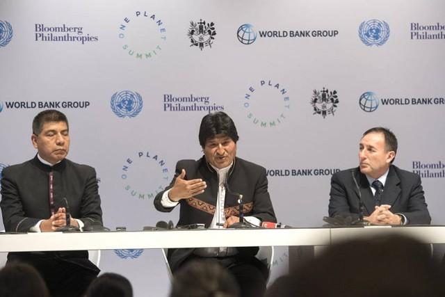 Morales critica implicar al sector privado en lucha contra el calentamiento