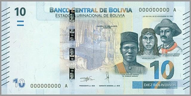 Entran en vigencia los primeros  billetes del Estado Plurinacional