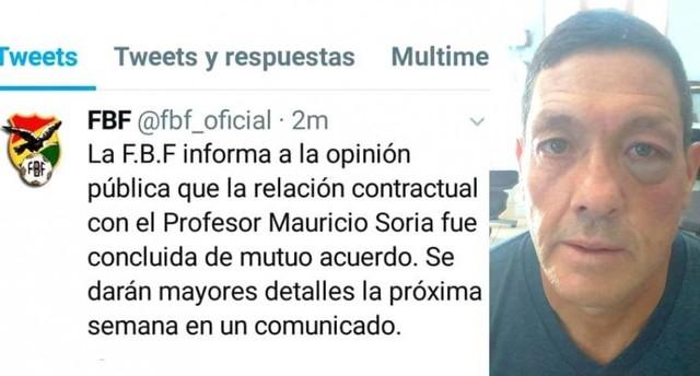Mauricio Soria ya no es más DT de la Selección boliviana