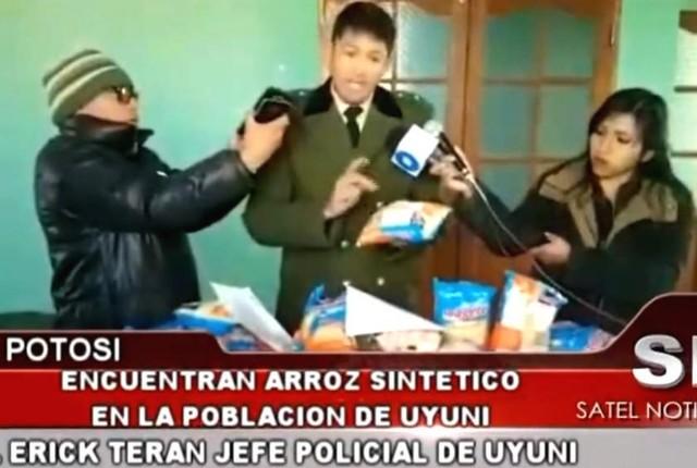 """Uyuni: Destituyen al jefe policial que denunció la """"existencia"""" de arroz plástico"""