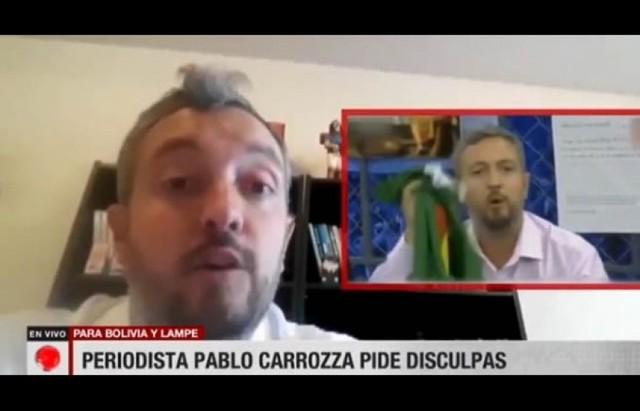 Periodista argentino pide disculpas a Lampe y al país