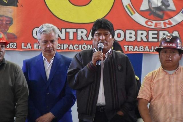 García Linera anuncia que irá a la reelección con Morales