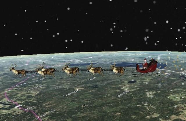 Papá Noel comienza a repartir regalos con la ayuda de sus renos