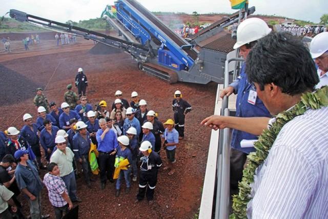 Ponen en marcha obras de la siderúrgica Mutún
