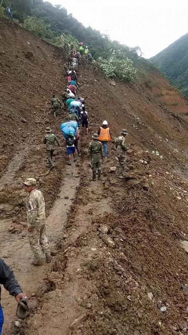 Reportan un nuevo derrumbe en Los Yungas