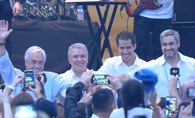 Guaidó se junta con Duque, Piñera, Abdo y Almagro en el concierto de Cúcuta