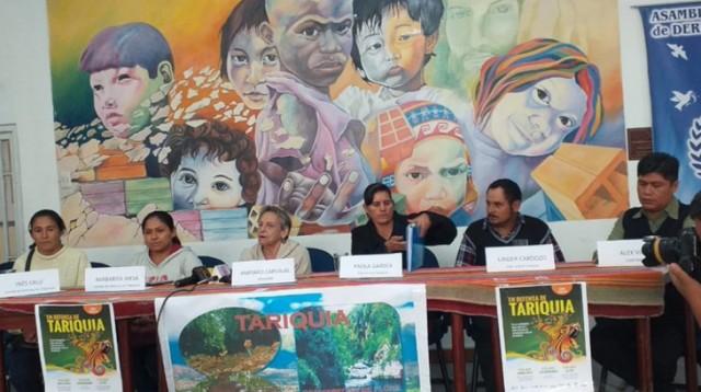 """Mujeres de Tariquía: """"Estamos dispuestas a perder la vida, no la herencia de nuestros hijos"""""""