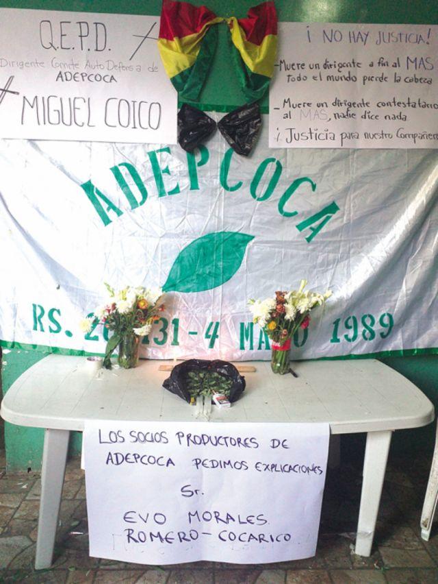 En Yungas velan a su muerto; el Gobierno culpa a Adepcoca
