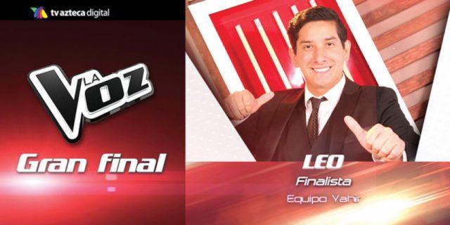 Boliviano Leo Rosas, en la final de La Voz México