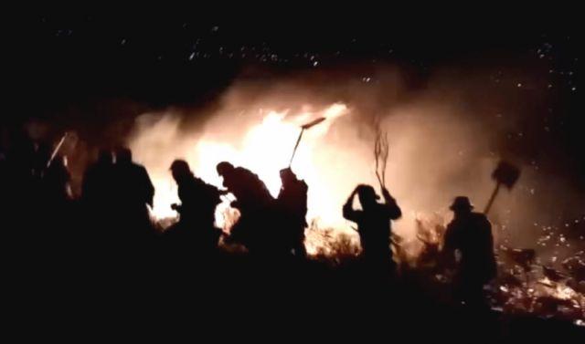 Reportan focos de incendio en Sacaba y temen expansión a zonas urbanas