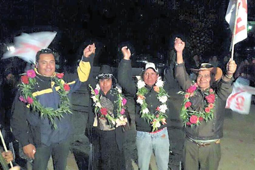 ACH. La actividad proselitista de la alianza Arriba Chuquisaca en San Lucas.