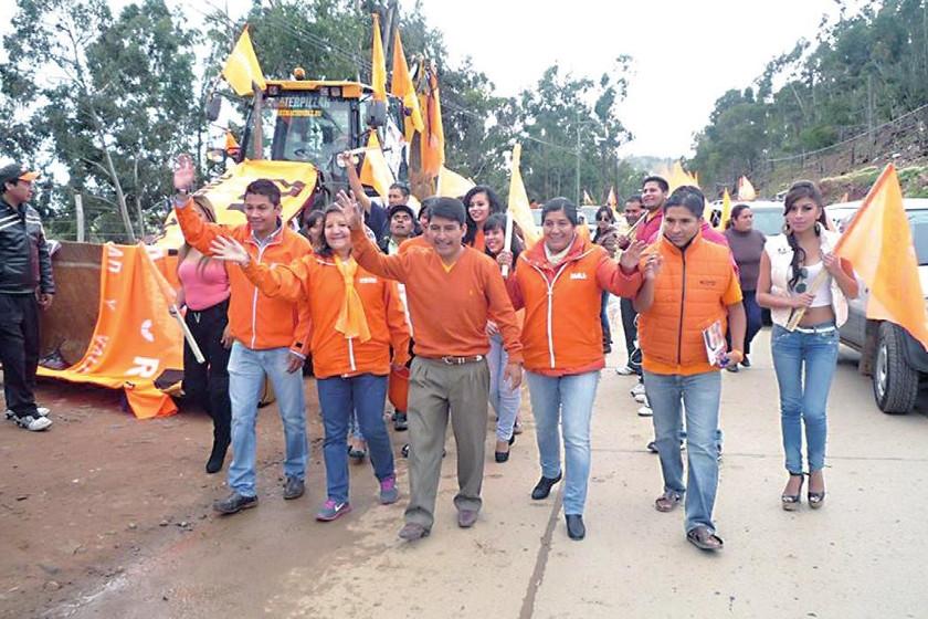 CST. Una de las imágenes de la caravana de ayer de Chuquisaca Somos Todos (CST)