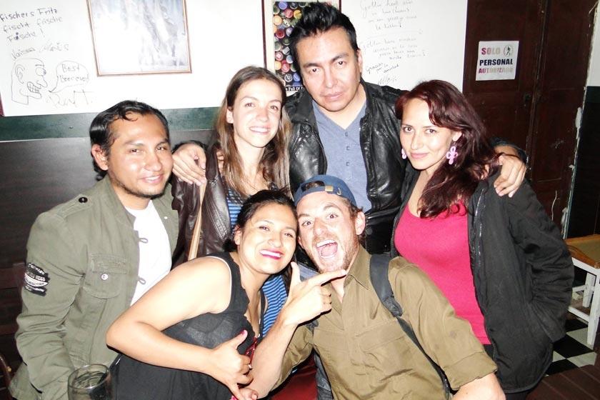 Omar Alarcón, Pauline Boyer, Cleaver John, Naira Muñoz, Ximena Calizaya y  Santiago Bascon.