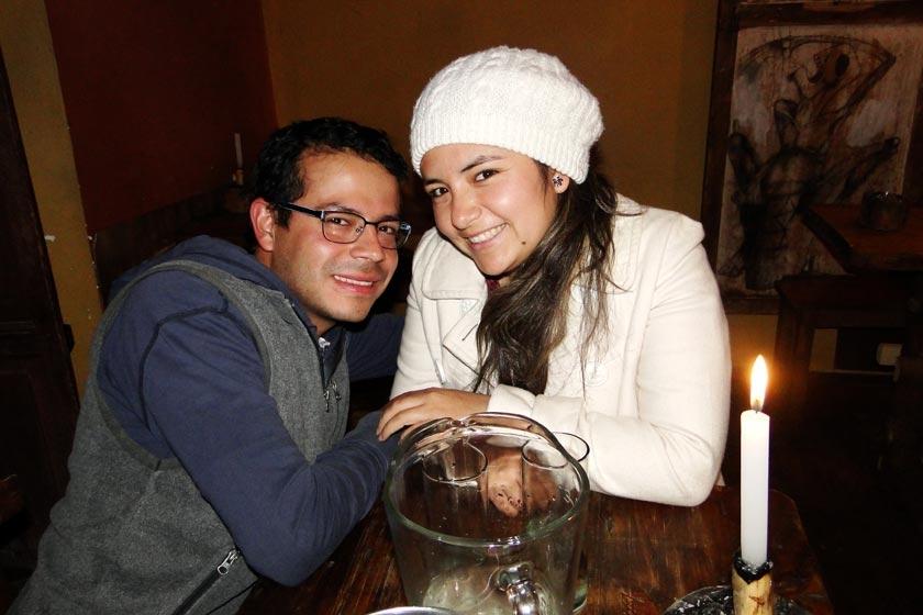 Daniel Chirinos y Jessica Padilla.