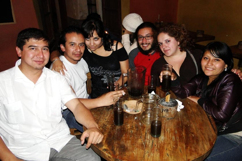 Javier Campos, Jorge Avilés, Karina Iriarte, Antonio Flores, Ingrid Abuawad y Yesenia Patzi.