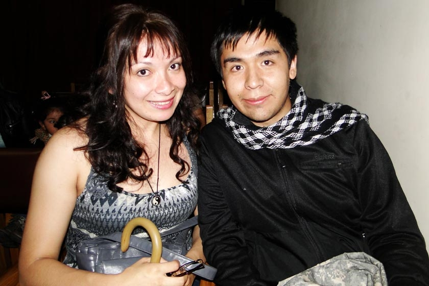 Nataly Arancibia y Luis Fernando Sandy
