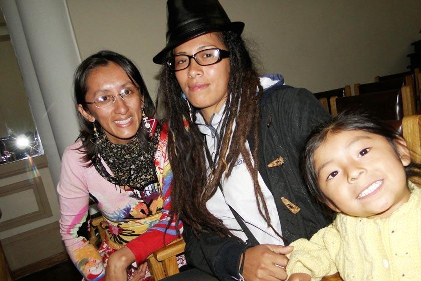 Kate Durán, Luciana Olorio y Luna Aymara Baldivieso