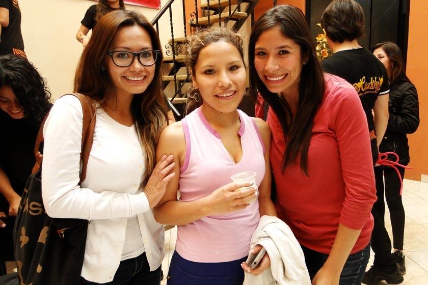 Paola Martínez, María Jaito y Banny Andrade